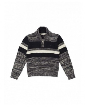 Nautica Texture Chest Stripe Sweater
