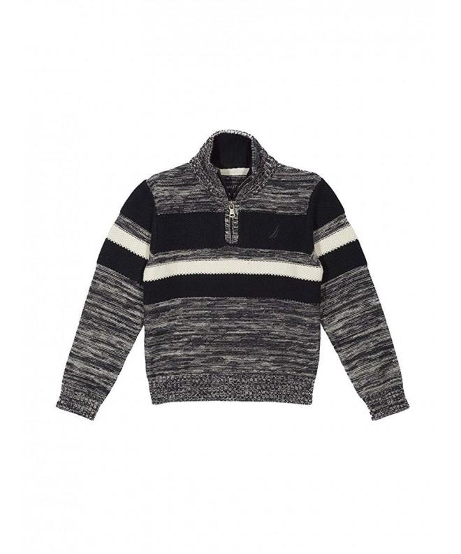 Nautica Texture Chest Stripe Sweater