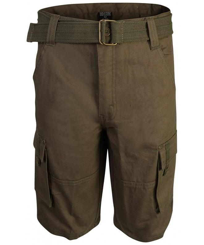 Quad Seven Brushed Belted Shorts