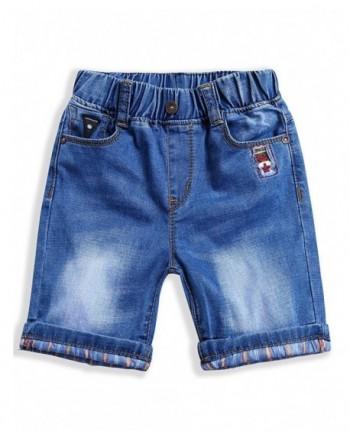 LITTLE GUEST Boys Knee Length Jeans Shorts