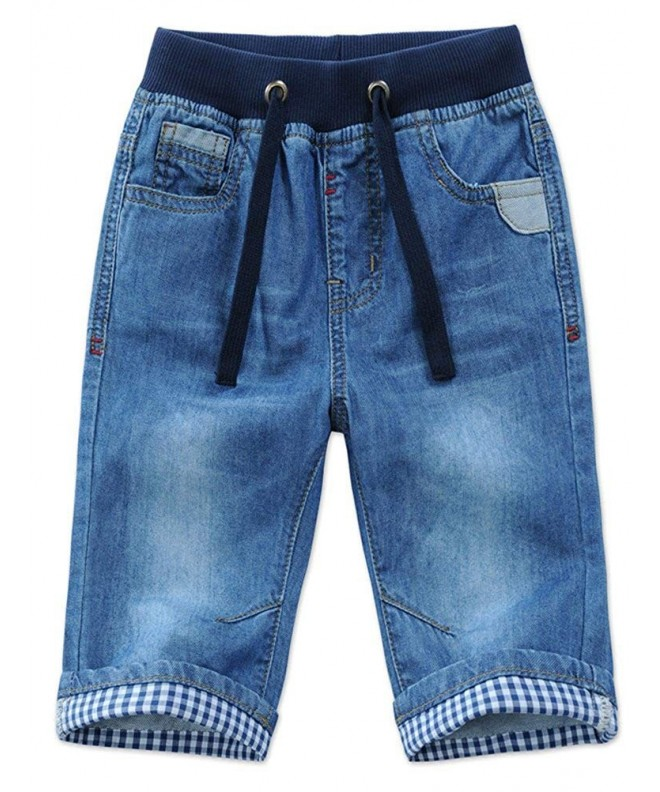 Mallimoda Casual Jeans Shorts Elastic