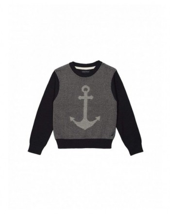 Nautica Crewneck Jacquard Anchor Sweater