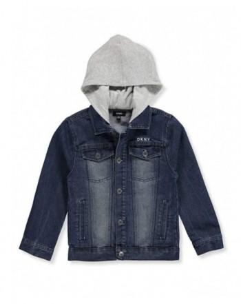 DKNY Boys Hooded Denim Jacket