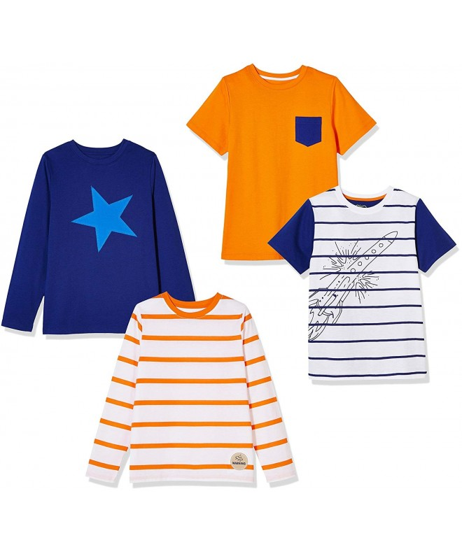 Awesome 4 Pack Cotton Long Sleeve Short Sleeve