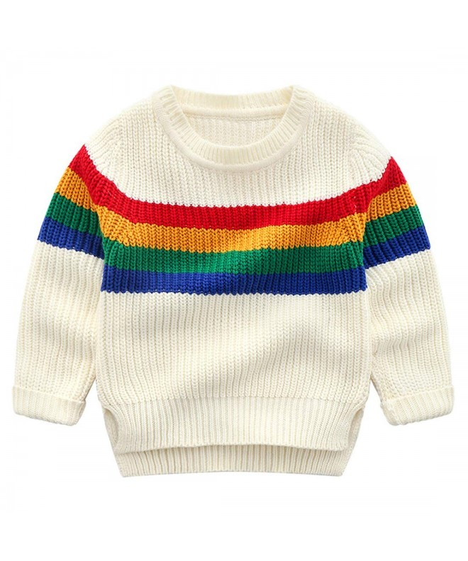 Anbaby Jacquard Rainbow Pullover Sweaters