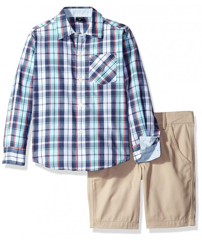 Nautica Sleeve Button Shirt Front