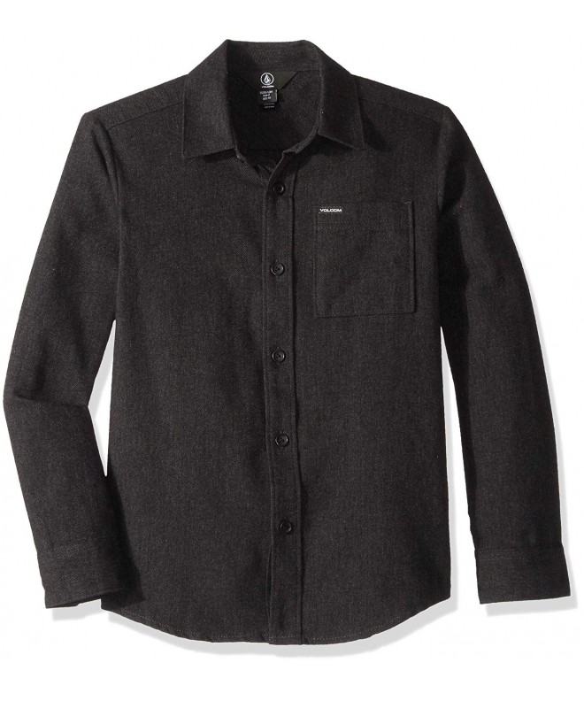 Volcom Caden Solid Sleeve Button