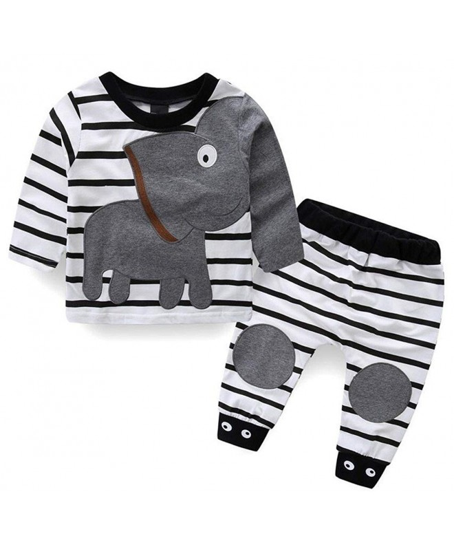 Elephant Outfits Stripe Casual Clothes