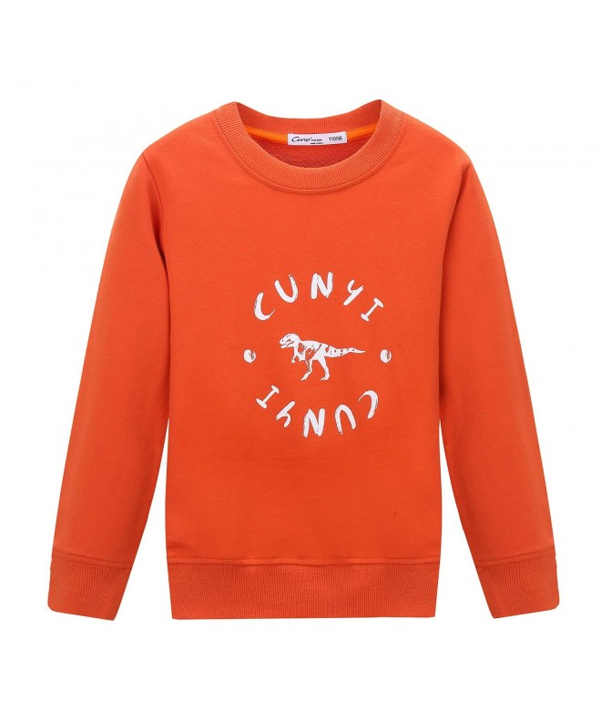 CUNYI Dinosaur Fashion Sweatshirts Sleeve