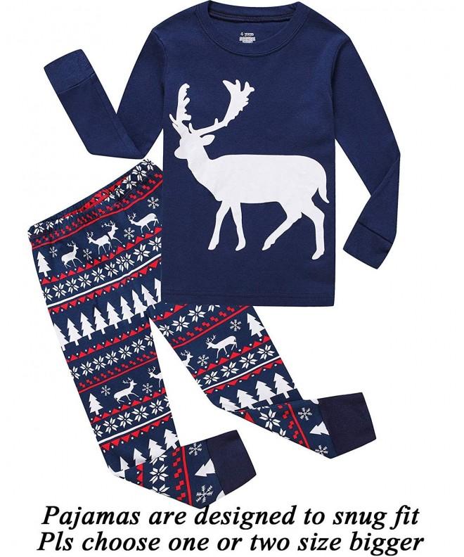 Boys Christmas Pajamas.100 Cotton Boys Christmas Pajamas Long Sleeve Toddler Pjs Kids Sleepwear Blue Christmas Cd18hmxt749