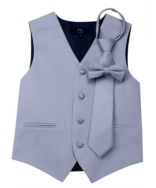 Brand Tuxedo Zipper Bow Tie Silver