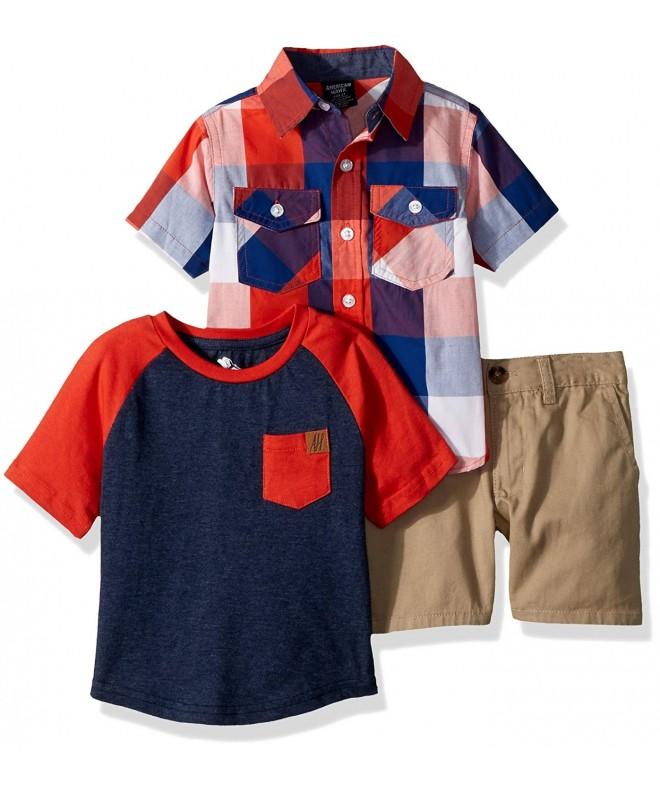 American Hawk Plaid Sport T Shirt