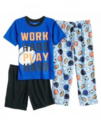Carters Sports 3 Piece Pajama Black