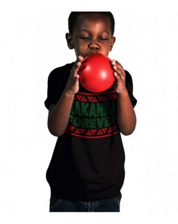 Wakanda Forever Youth Black Shirt