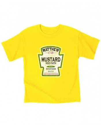 Kerusso Mustard Kids T Shirt Small Christian Fashion