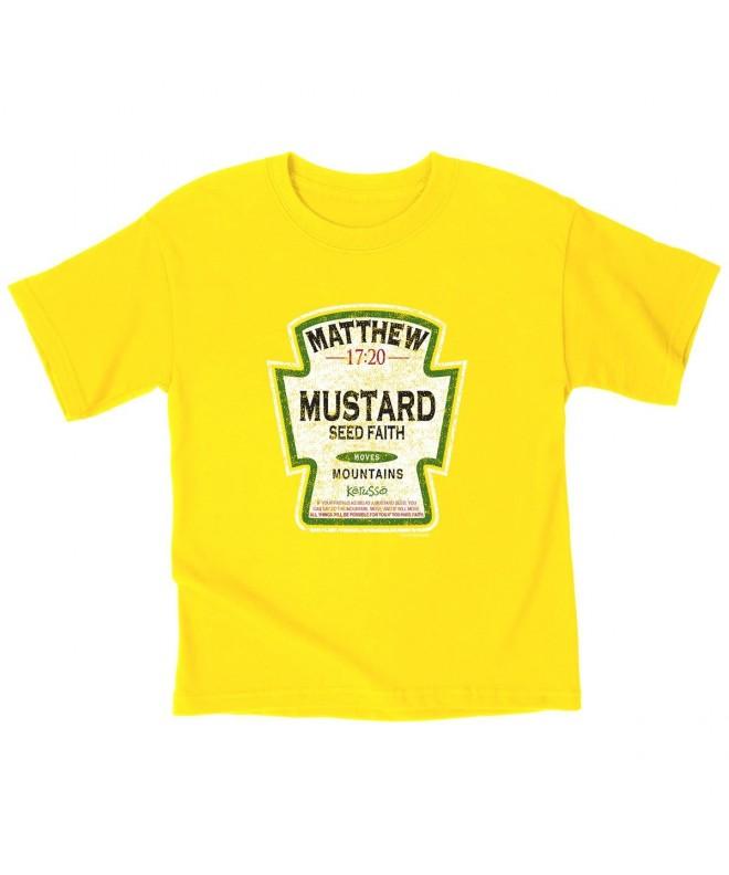Kerusso Mustard Kids T Shirt Small Christian Fashion