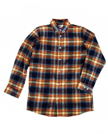 Southern Lure Orange Plaid Flannel