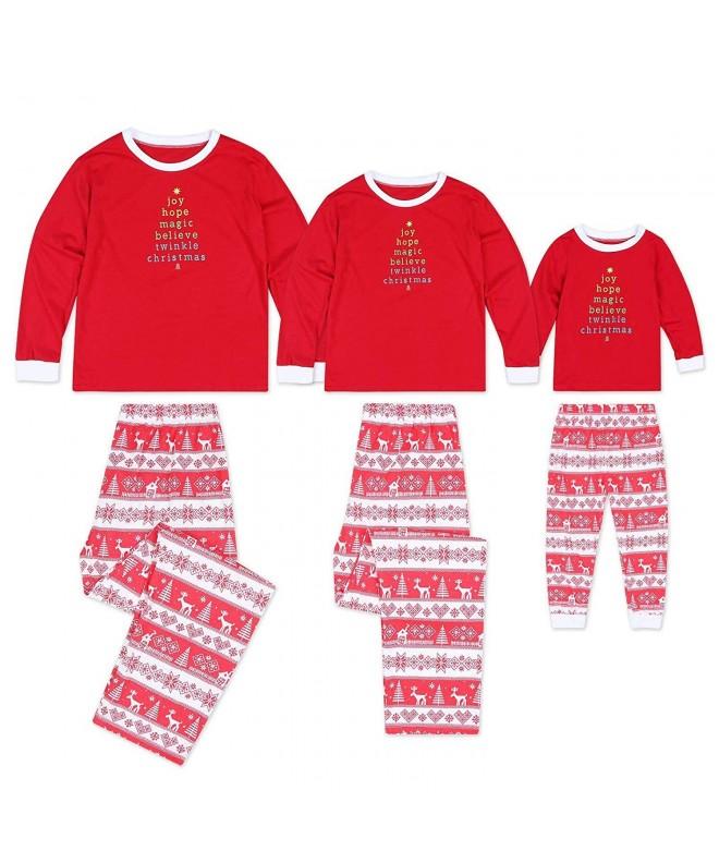 Seogva Christmas Pajamas Matching Sleepwear
