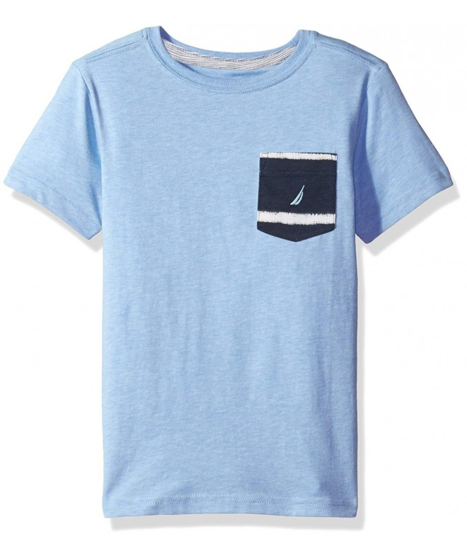 Nautica Sleeve Crew Neck Pocket T Shirt