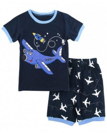 DESIGN Airplane Pajamas Short Sleeve