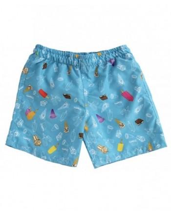 Subibaja Swimsuit Cream Printed Shorts