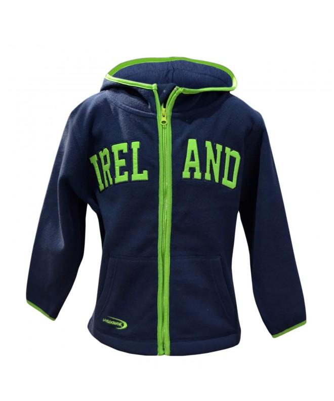 Navy Hoodie Green Design Ireland