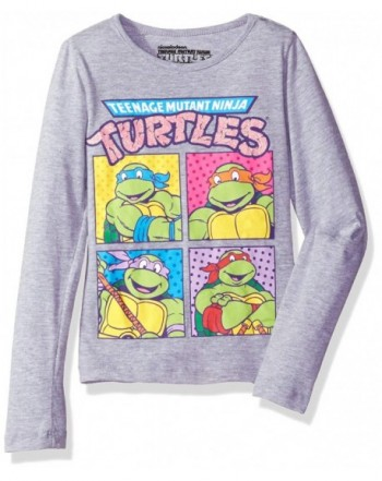 Nickelodeon Little Turtles T Shirt Heather