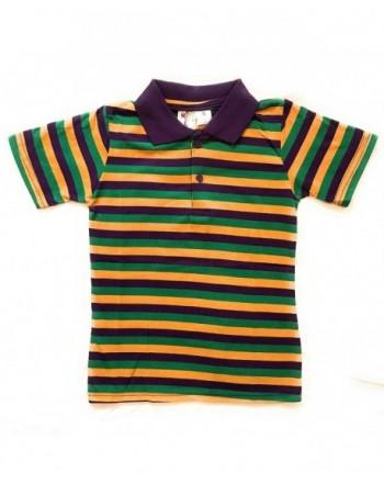 Mardi Gras Short Sleeve Striped