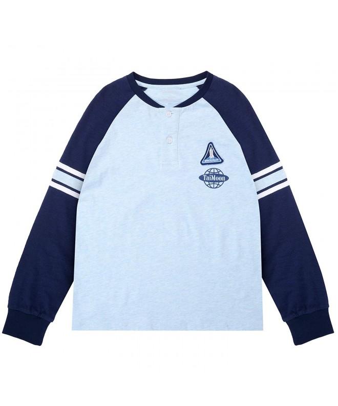 TaiMoon Cotton Sleeve Raglan T Shirt