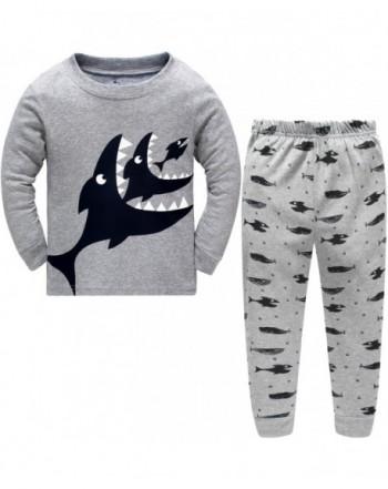 Hugbug Boys Shark Pajamas 2 7T