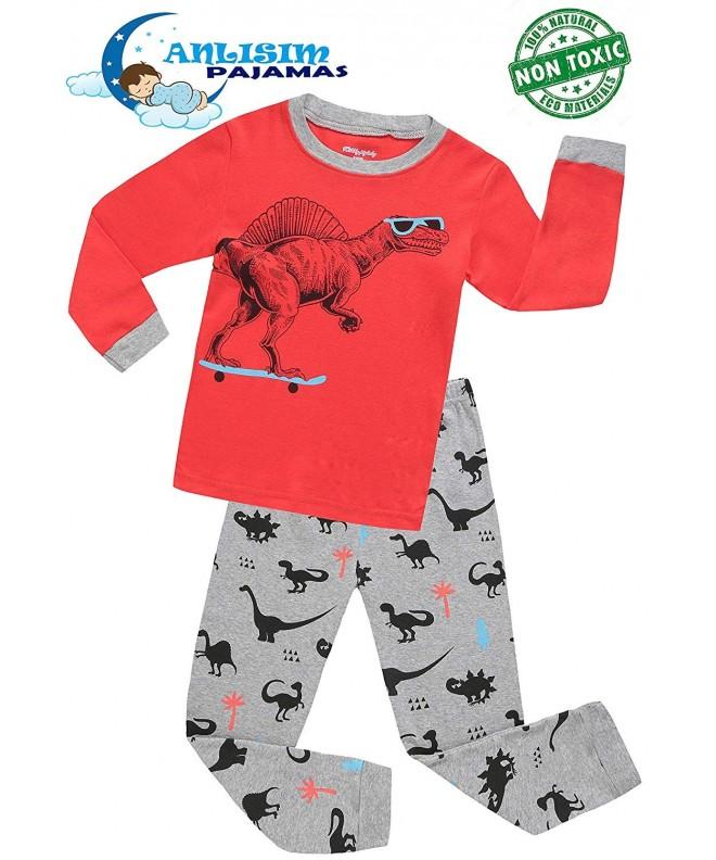 ANLISIM Pajamas Sleepwear Clothes Dinosaur