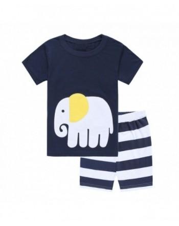 Elephant Pajamas Summer Toddler Sleepwears