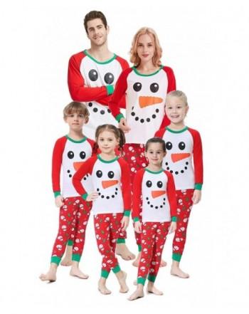 Matching Christmas Pajamas Snowman Children