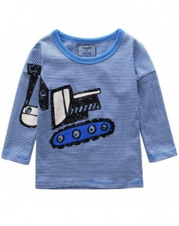 Frogwill Toddler Excavator Sleeve Cartoon