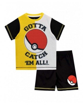Pokemon Boys Pokeball Pajamas Black