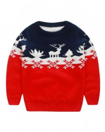 LittleSpring Sweater Pullover Christmas Reindeer