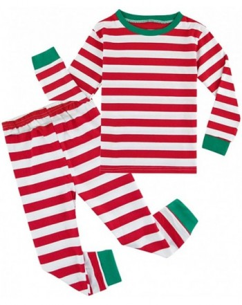 COSLAND Boys Striped Sleeves Pajamas
