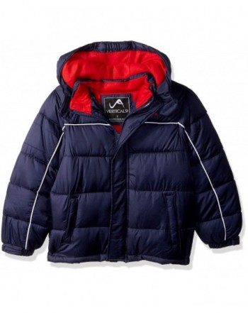 Vertical Boys Lines Bubble Jacket