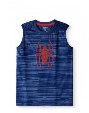 Fashion Spider Man Sleeveless Muscle T Shirt
