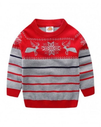 LittleSpring Sweater Christmas Pullover Striped