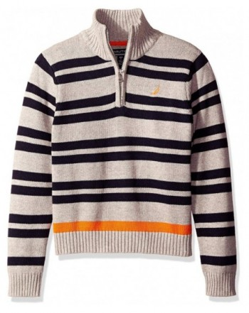 Nautica Boys Clean Striped Sweater