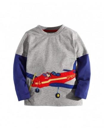 Sleeve Cartoon T Shirt Aircraft 11 12Yrs