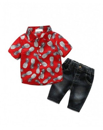 Little Pieces Set Red Pineapple Pattern