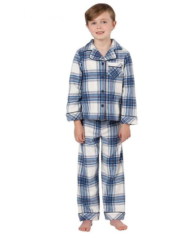 PajamaGram Boys Fleece Button Front Pajama