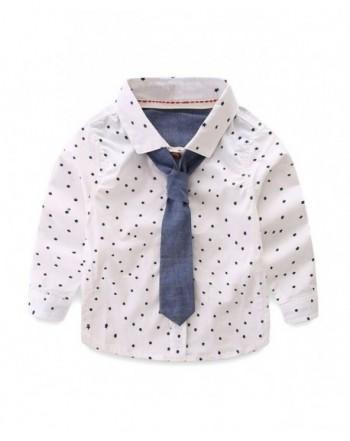 LittleSpring Little Boys Shirts Stars