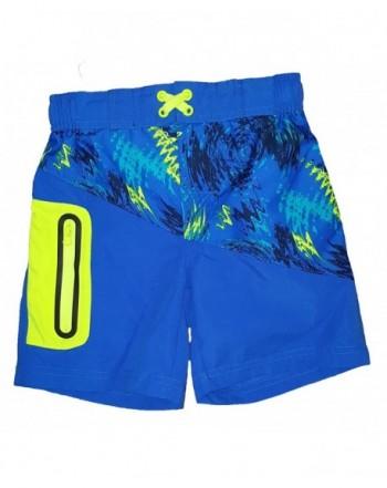 Abstract Print Cobalt Crush Shorts