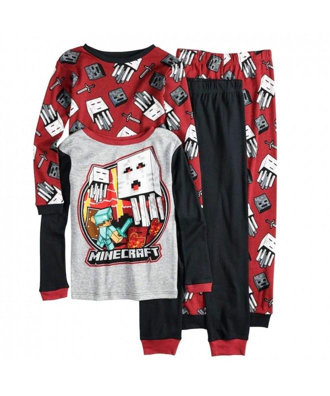 Minecraft Boys Shorts 4-Piece Pajama Set Size 10