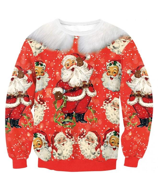 KIDVOVOU Womens Christmas Pullover Sweatshirt