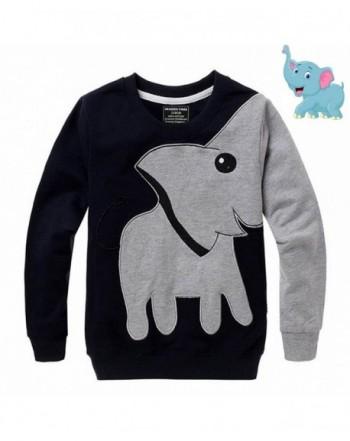 Toddler Sleeve Shirts Cartoon Sweatshirt