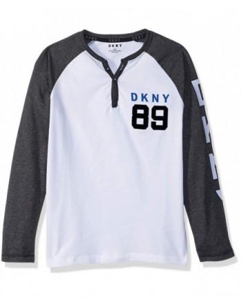 DKNY Raglan Sleeve Jersey Henley